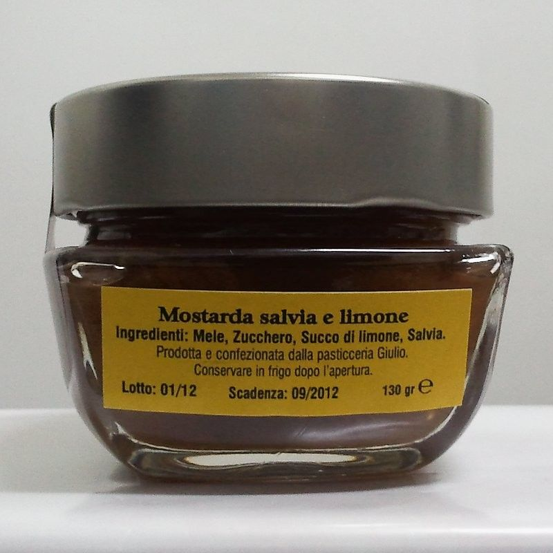 Gli ingredienti della Mostarda Salvia e Limone