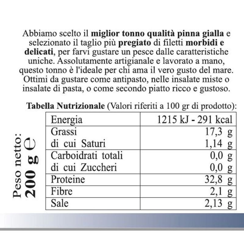 Tarantello of Tuna in Olive Oil