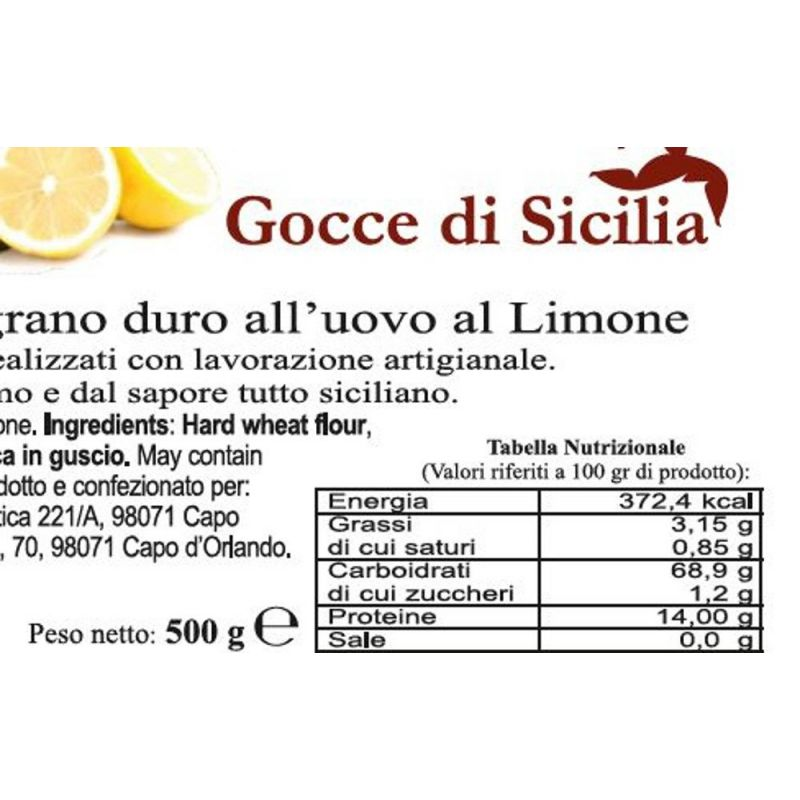 Handmade Tagliolini flavored with lemon