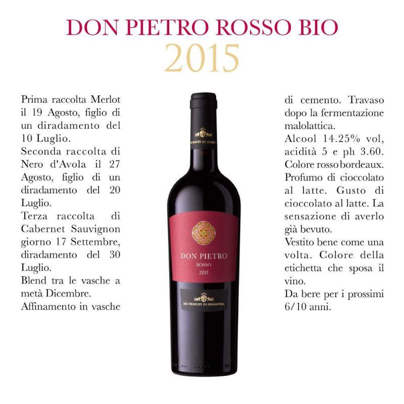 Don Pietro Organic Red Wine 2016 - Dei Principi di Spadafora