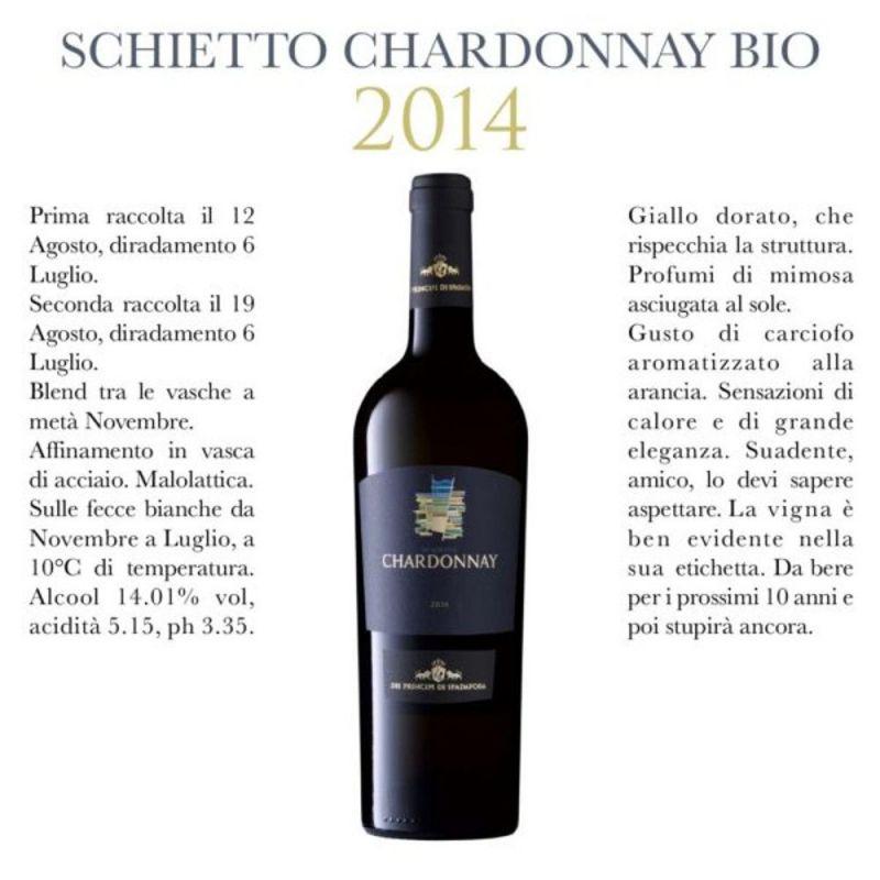 Chardonnay White Wine 2015 - Dei Principi di Spadafora