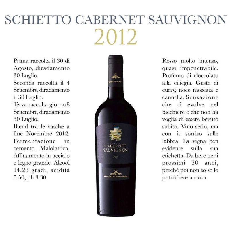 Cabernet Sauvignon Red Wine 2012 - Dei Principi di Spadafora