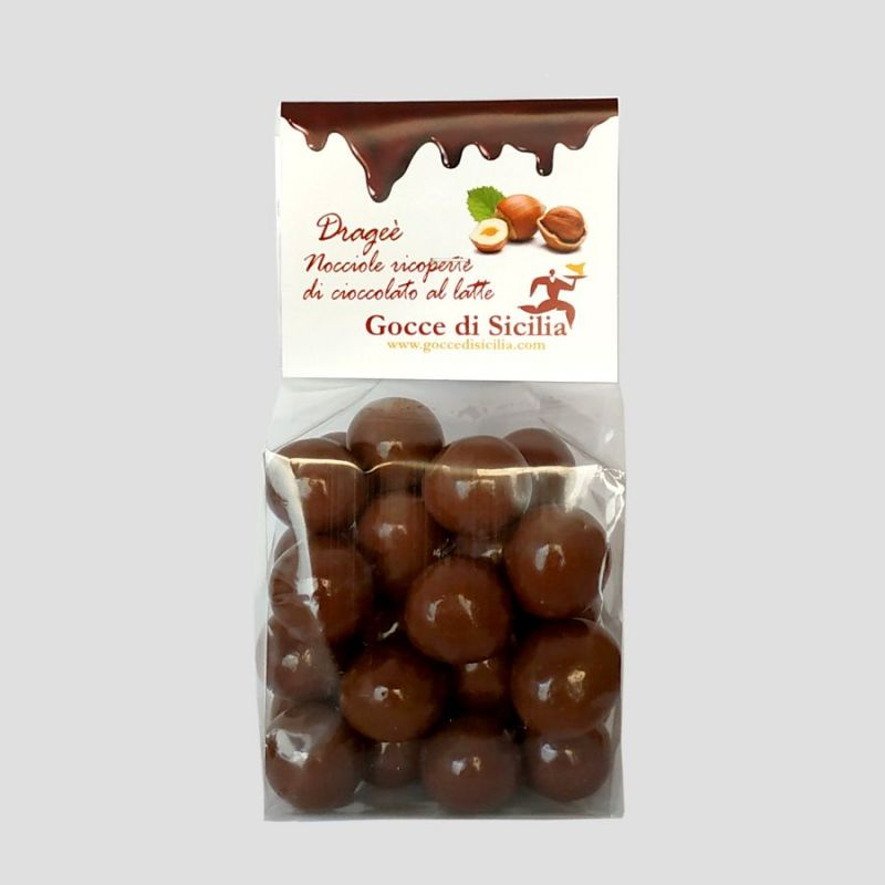 Dragee Toasted hazelnuts covered with milk chocolate
