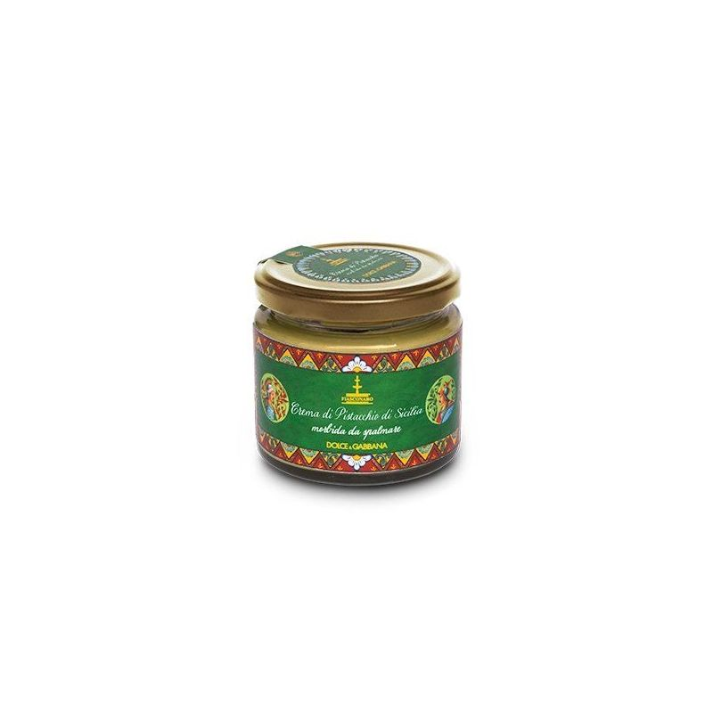Panettone with Sicilian Pistachio in an elegant tin By D&G. - 600g