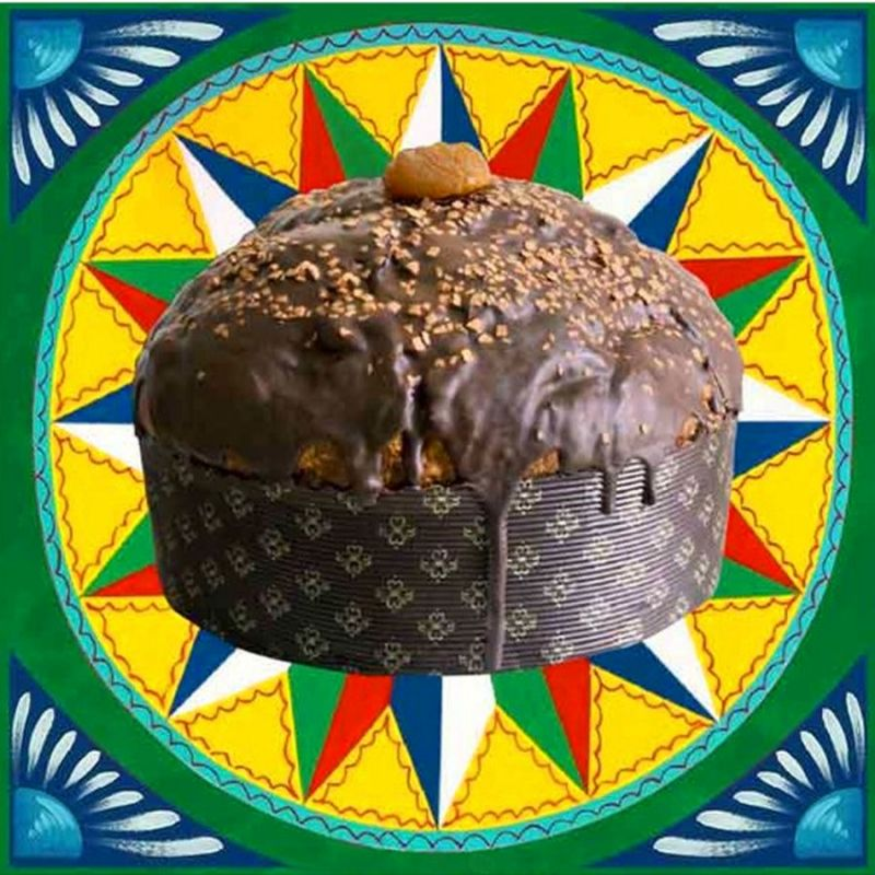 Panettone Fiasconaro by D&G with glazed Chestnuts and Gianduia - 1 kg