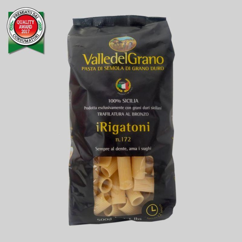 Rigatoni - 100% Sicilian durum wheat semolina pasta