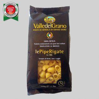 Pipe Rigate - Valle del Grano - Pasta 100% grano siciliano