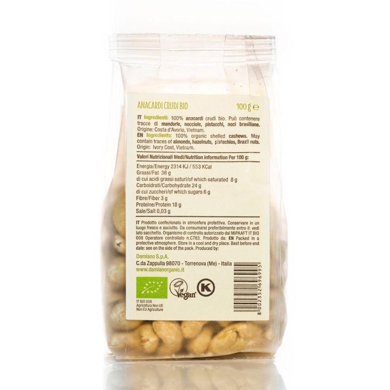 Organic Raw shelled cashews