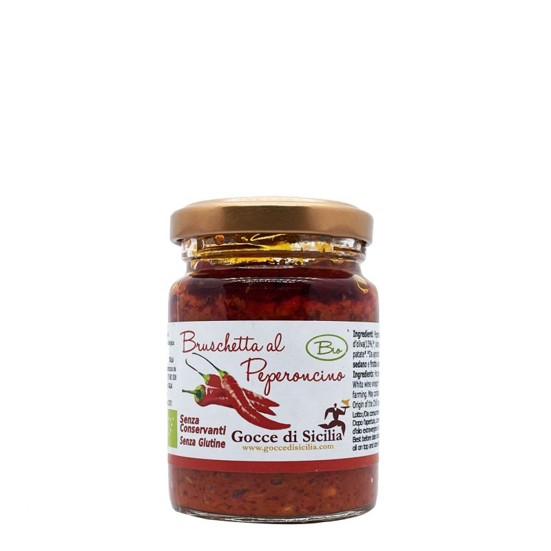 Chili Pepper Organic Patè Gocce di Sicilia - 90 grams