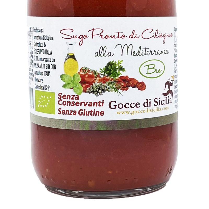 Ready to use Organic Mediterranean Cherry Tomato Sauce