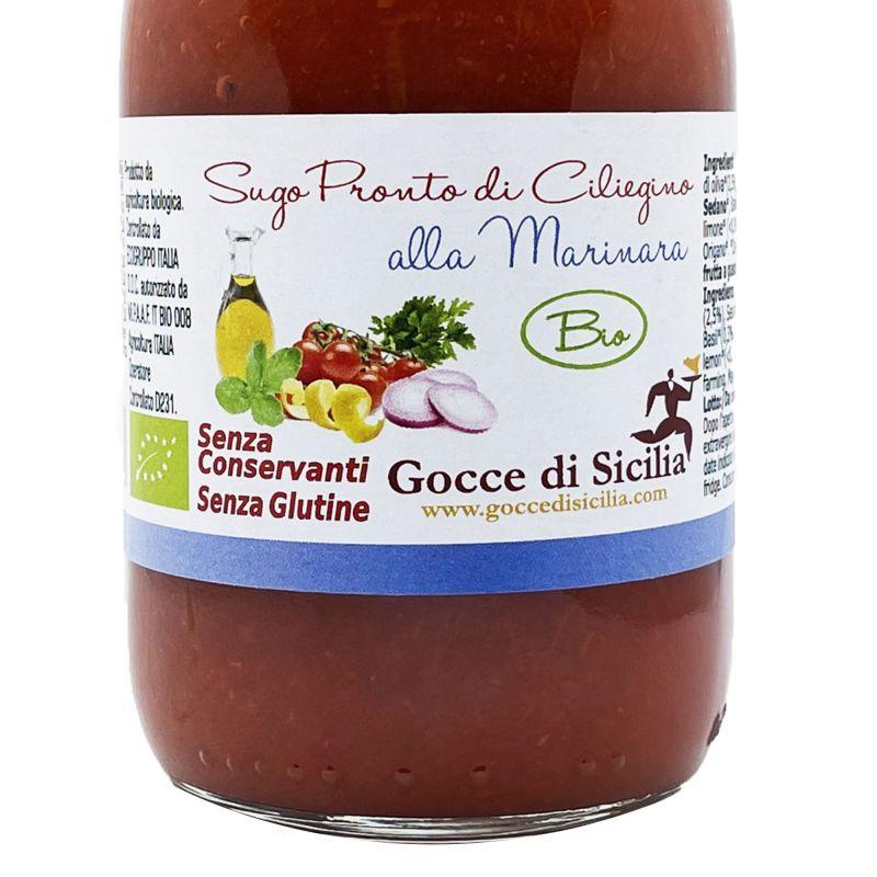 Ready to use Organic Marinara Cherry Tomato Sauce