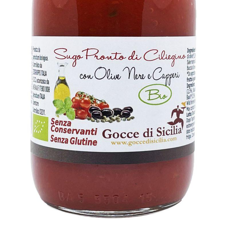 Ready to use Organic Cherry Tomato Sauce with Tuna Fish