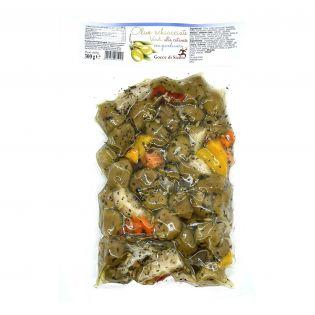 Olive verdi schiacciate Antipasto Siciliano