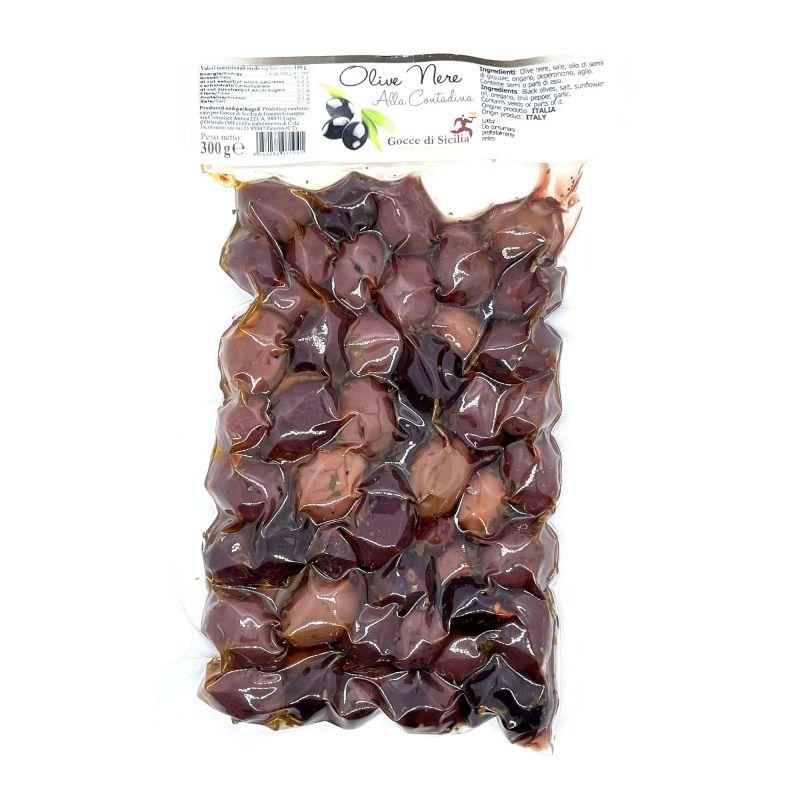 """Black Olives """"alla Contadina"""" seasoned"""