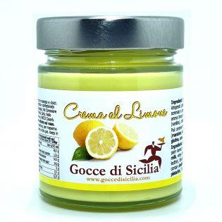 Sweet cream spreadable with lemon