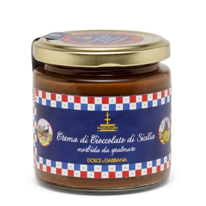 Sicilian spreadable Chocolate sweet cream By Fiasconaro and D&G. - 180 g