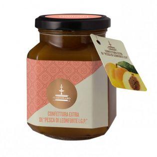 "Extra Jam of ""Peaches of Leonforte PGI"" 360g - FIASCONARO"