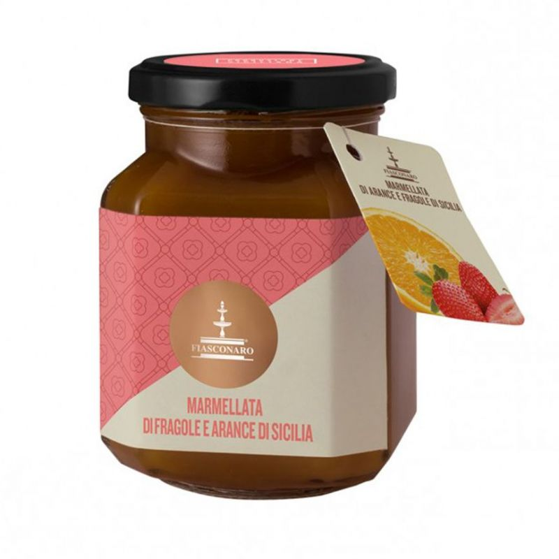 Strawberry and Sicilian orange marmalade 360 g - FIASCONARO