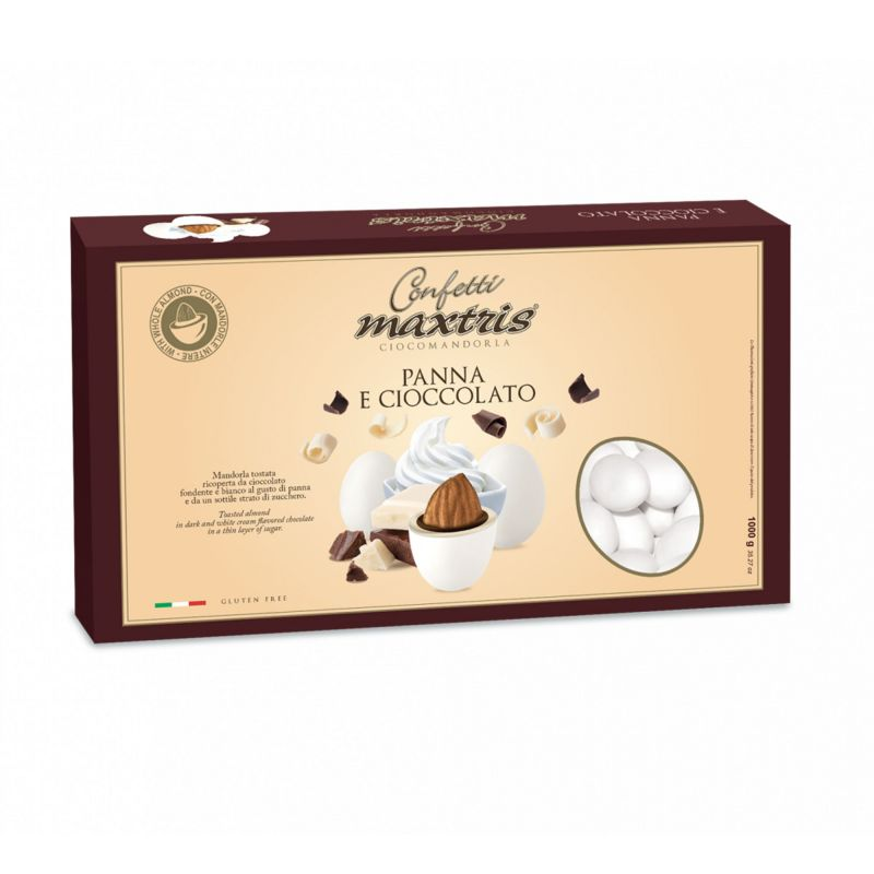 Cream and Chocolate dragèe Maxtris