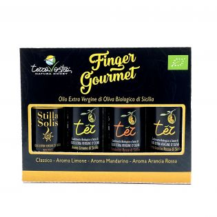 Finger Gourmet 4x20 ml - Set assaggio di Oli EVO Biologici di Sicilia