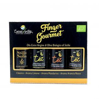 Finger Gourmet 4x20 ml - Tasting set of Sicilian Organic EVO Oils
