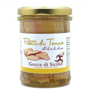 Filetti di Tonno sott'olio Gocce di Sicilia