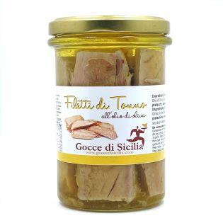 Filetti di Tonno del Mediterraneo all'Olio di Oliva - 300 grammi