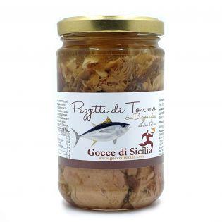 Pezzetti di Tonno all'Olio di Oliva - Formato convenienza 300 grammi.