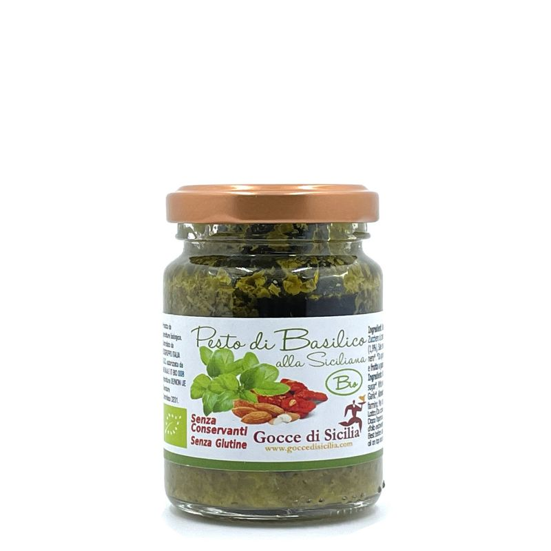 Sicilian Organic Basil Pesto - Ready to eat - 90 grams
