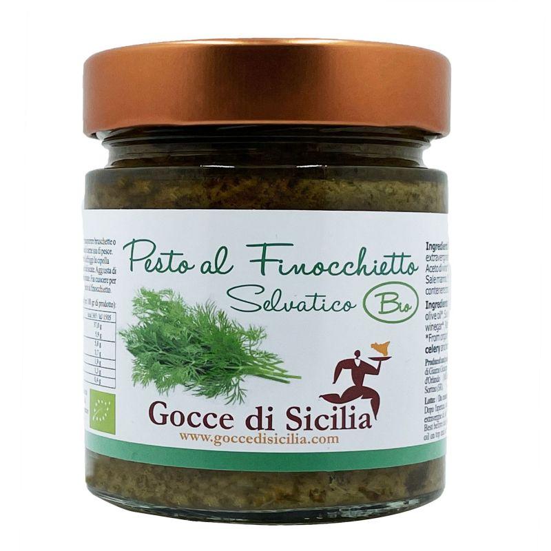 Organic Pesto with wild fennel - 190 grams