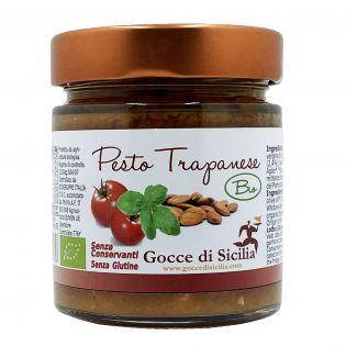 Pesto Trapanese BIO originale siciliano Gocce di Sicilia 190 grammi