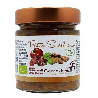 Pesto siciliano originale biologico Gocce di Sicilia. 190 gr