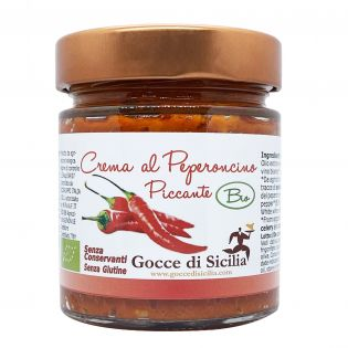 Crema di Peperoncino Piccante siciliano BIO 190 grammi