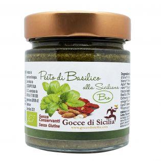 Bruschetta al basilico fresco Biologico certificato, vaso da 190 grammi