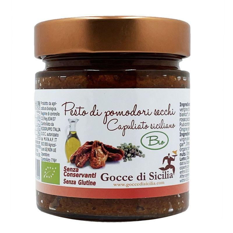 Capuliato BIO alla siciliana - Pesto di Pomodori secchi 190 gr