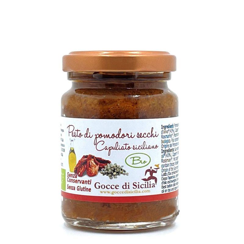 Sicilian Organic Capuliato - sun dried tomatoes pesto. 90 gr