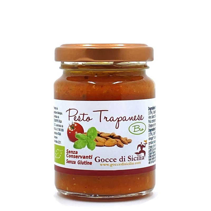 Organic Trapanese Pesto sauce for pasta - 90 grams