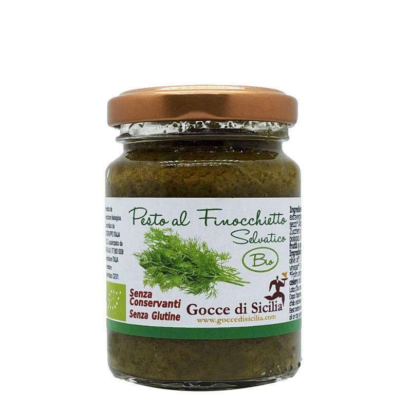 Organic Wild fennel Pesto Gocce di Sicilia - 90 grams