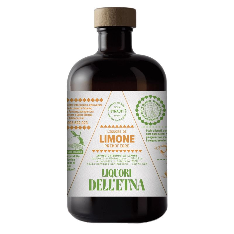 First Flower Lemon liqueur from Etna- 50 cl