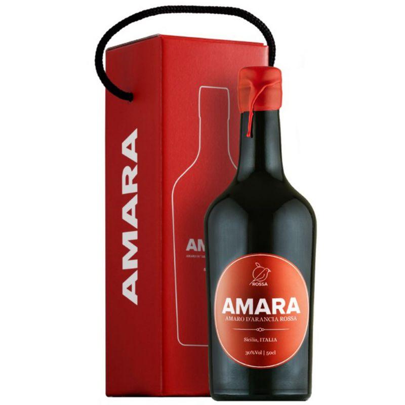 Amaro Amara with case 50 cl -Sicilian Bitter Liqueur
