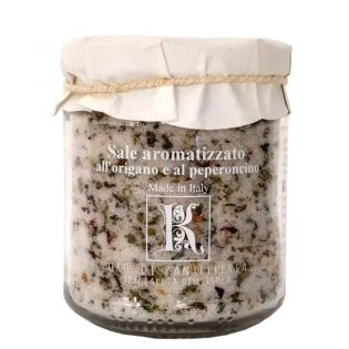 Sale aromatizzato al peperoncino e origano di Pantelleria
