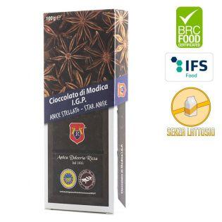 Cioccolato di Modica I.G.P. all'Anice Stellato in vendita su GoccediSicilia.com