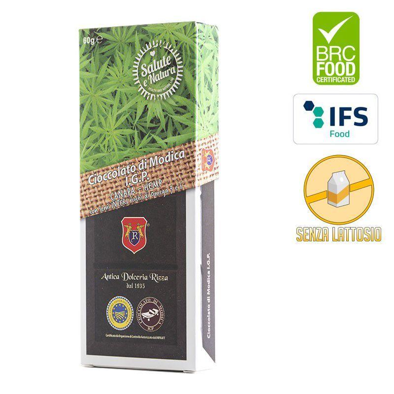 I.G.P. Modica chocolate hemp seeds whole