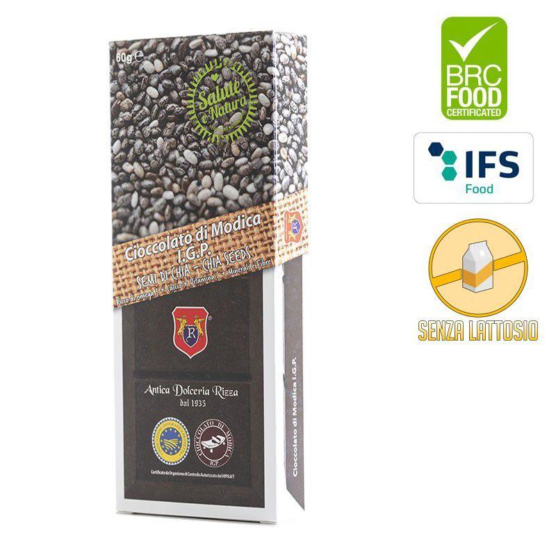 IGP Modica chocolate with Chia seeds