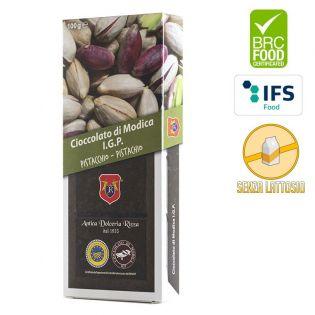 Cioccolato di modica I.G.P. al pistacchio