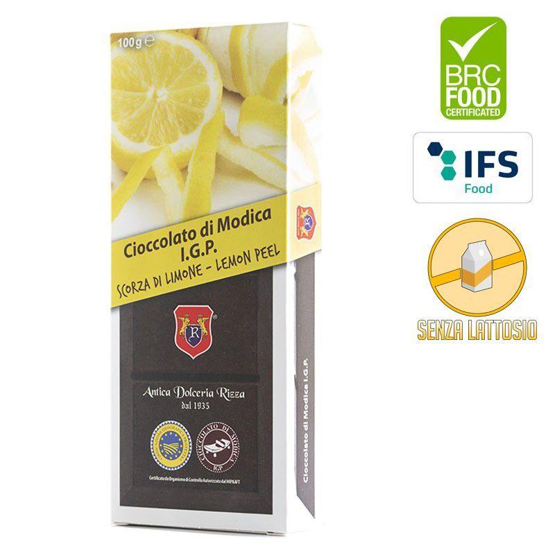 I.G.P. Modica chocolate Peels of Lemon