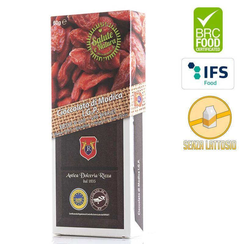 IGP Modica chocolate with Goji berries