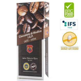 Cioccolato di Modica I.G.P. al caffè in vendita su Gocce di Sicilia