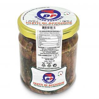 Filetti di Acciughe in olio d'Oliva e Prezzemolo - 212 grammi
