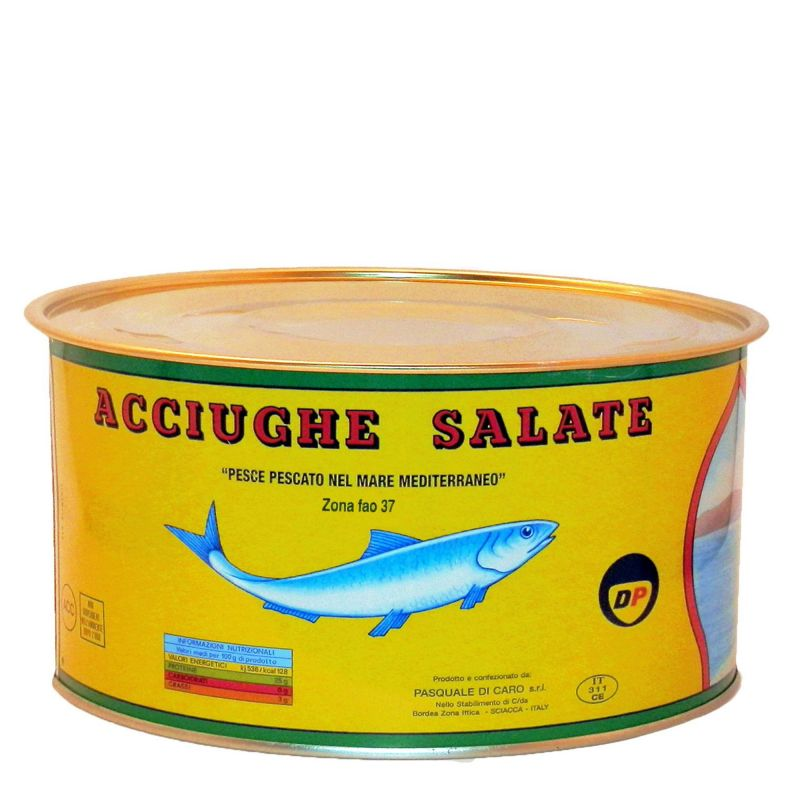 Salted Anchovy Fillets - 1.75 Kg
